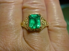 My new emerald ring!