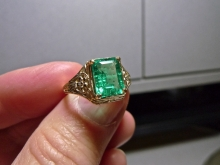 Moissanite Co. Columbian Emerald with inclusions - more photos by request