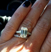 Emerald cut w/bags by David Klass