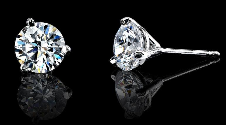 Asha Martini Stud Earrings Platinum Stud Earrings Fake