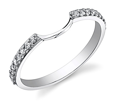 Halo ring halo ring with two wedding bands for Wedding band to go with halo ring