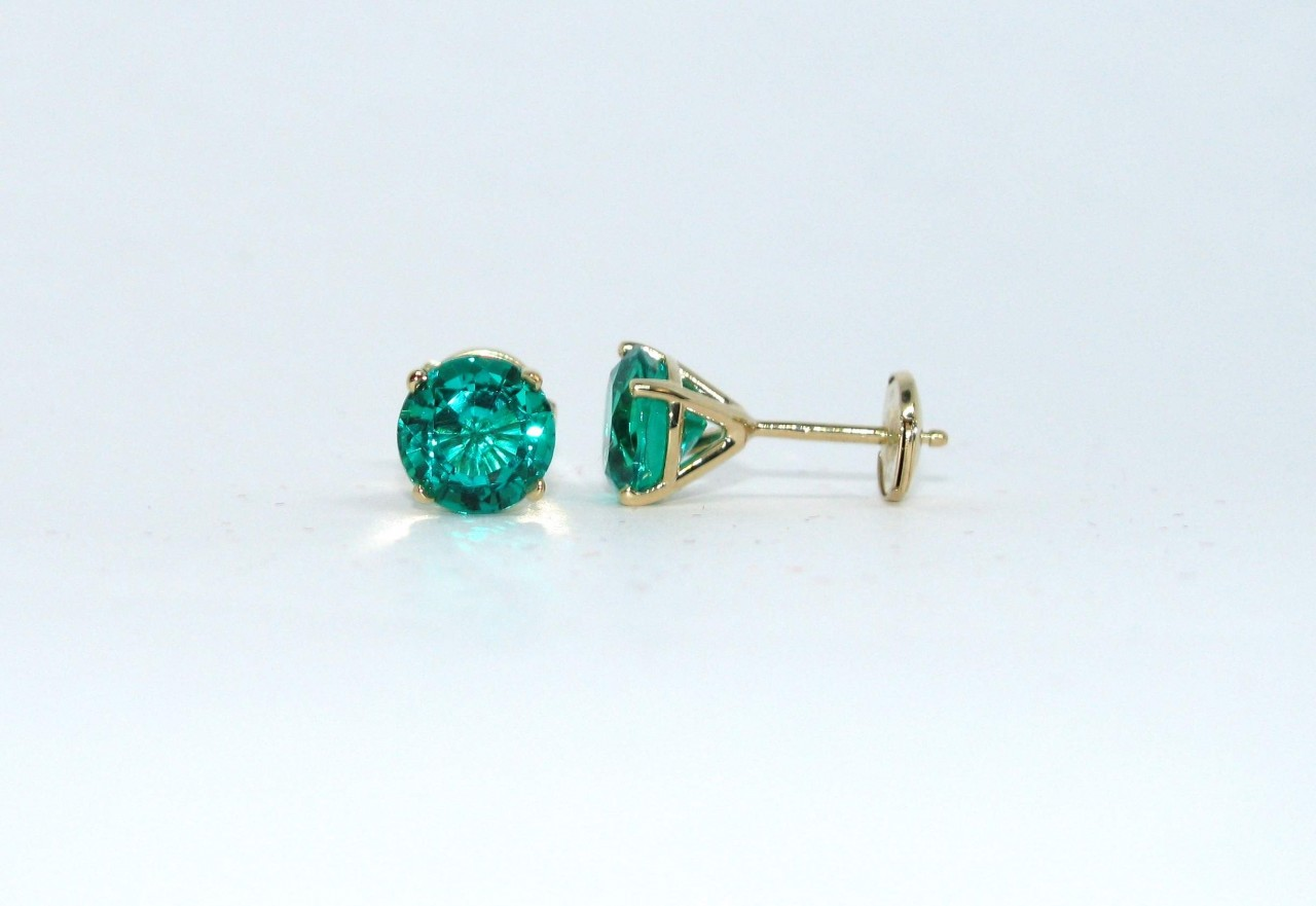 Avarra emerald stud earrings