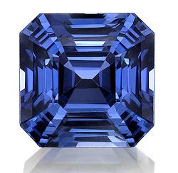 Kashmir Blue Lab Sapphire: Asscher Cut