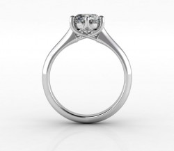 CAD render of the 6 prong Trellis Solitaire