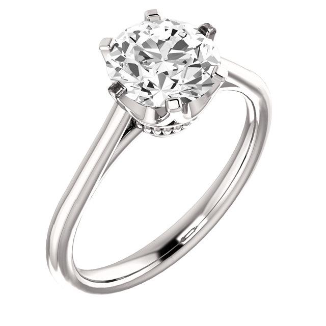 Coronet Solitaire Ring Betterthandiamond Com