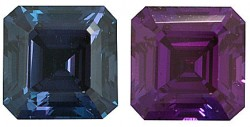 Lab Grown Alexandrite, Asscher Cut