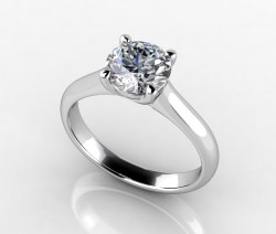 Timeless Trellis Solitaire Ring