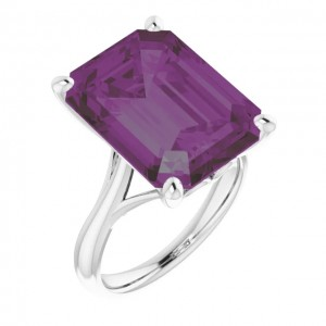 Computer-generated render showing how this style might look with a 16x12mm Alexandrite center stone.