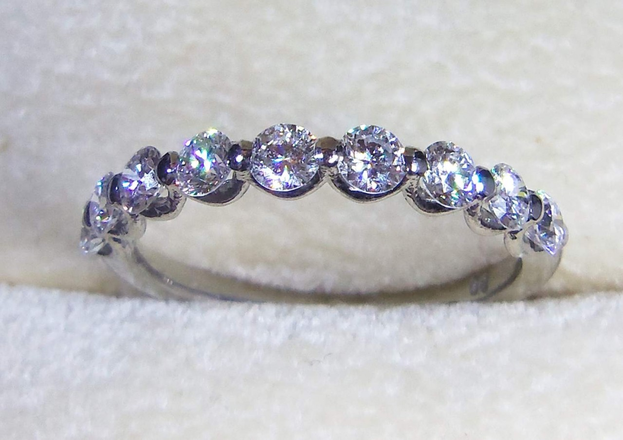 si ring forever eternity fg diamond shared bands pin prong unique