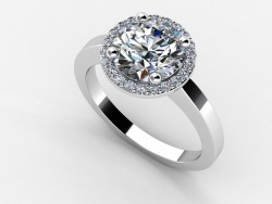 Timeless Milano Halo Ring