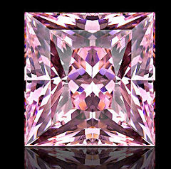 Asha Pink Princess Simulated Diamond