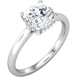 Shallon Engagement Ring with Micropave Basket