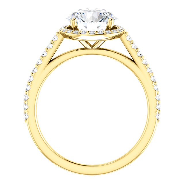 Cuileann Micropave Halo Engagement Ring