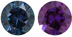 Lab Grown Alexandrite, Rounds (Diamond Cut)