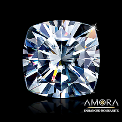 Amora Moissanite Cushion