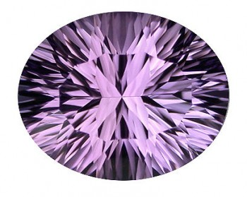 10x8mm Natural Bolivian Amethyst, concave cut