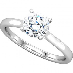Ginger solitaire shown here with a 6.5mm round center.