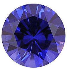 Kashmir Blue Lab Sapphire: Round Diamond Cut