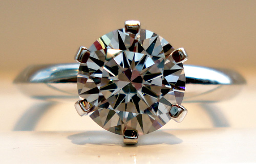1e4d323e8 Tiffany Reproduction Ring -- with or without Asha Fake Diamond center