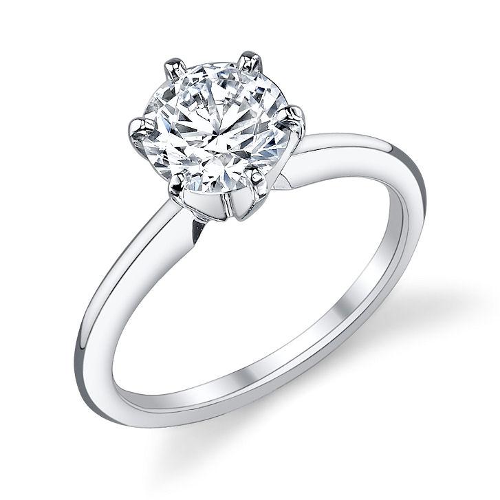 fda7eb4e7 Tiffany-style Classic Ring. Tiffany classic with 7.5mm round Asha center