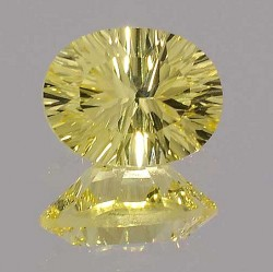Avarra Lemon Yellow Lab Sapphire: Concave Oval Cut
