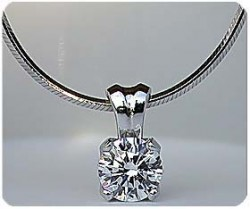 Solstice Pendant shown with optional diamond cut snake necklace