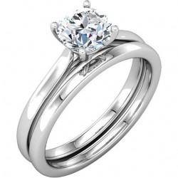 Ginger Cathedral Solitaire Engagement Ring
