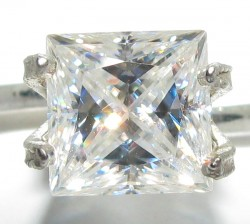 6.5mm princess cut Phoenix Moissanite
