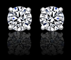 Earrings - 4 Prong Round Studs, Purity Series