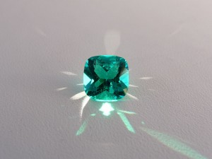 Avarra Lab Grown Colombian Emerald Cushion cut, B grade
