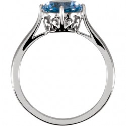 Windrose Solitaire Ring