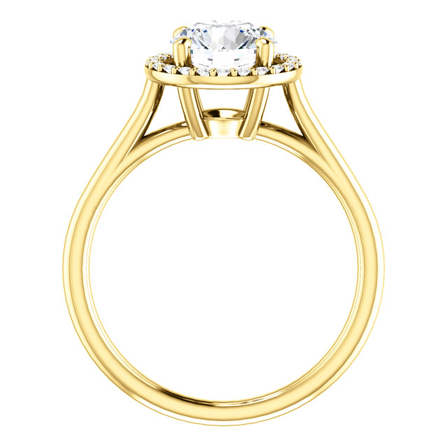Chamomile Micropave Halo Ring for Rounds