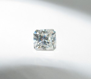 8mm x 9mm radiant cut Phoenix Moissanite, custom order