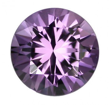 Natural Amethyst, Bolivian diamond cut round