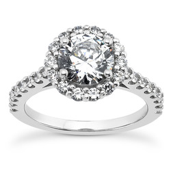Silene Halo Cathedral Ring, shown here with a 7.5mm center stone.