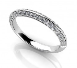 Timeless Regal Micropave Half-Eternity Band