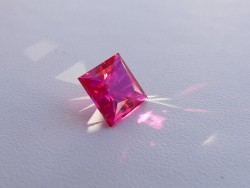 Avarra Lab Grown Ruby, Princess Cut