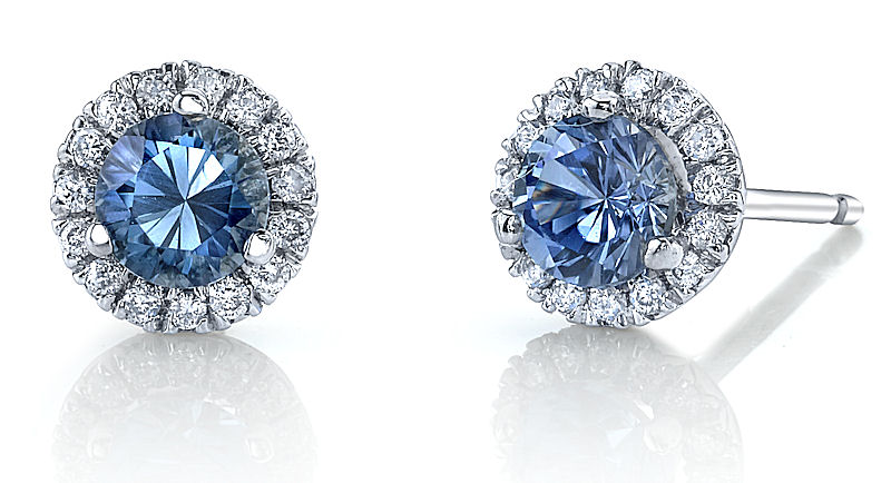 Micropave stud earrings