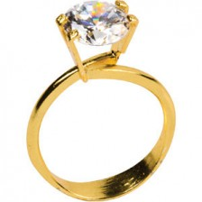 Yellow goldtone option, for .5 - 2.5ct stone sizes.  Loose stone not included.