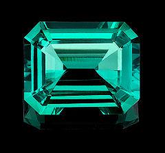 10.5 x 12.5mm Avarra™ Custom Cut, Lab Grown Colombian Emerald Deposit.