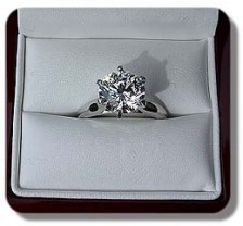 Tiffany Cathedral Solitaire 4mm plat