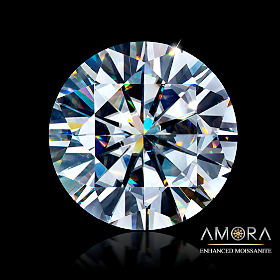 Amora enhanced Moissanite.