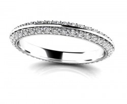 Timeless Regal Micropave Eternity Ring
