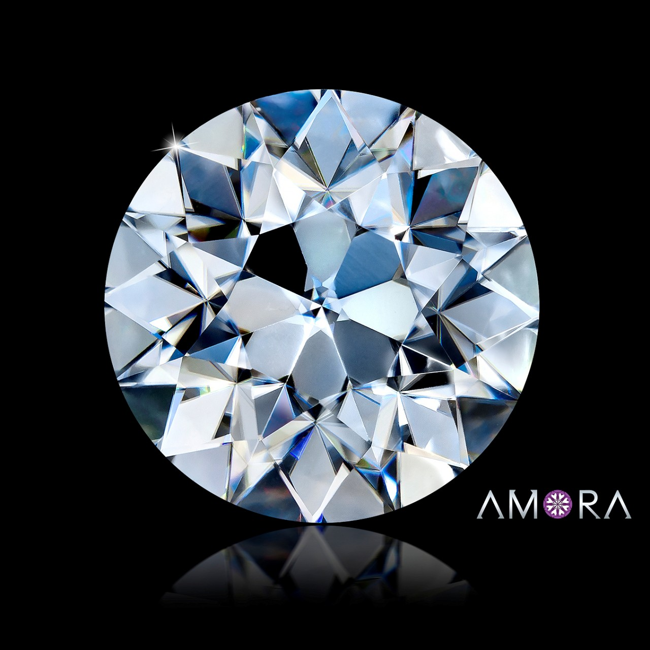 one forever v gem fire brilliance amora pin engagement diamond moissanite rings gia