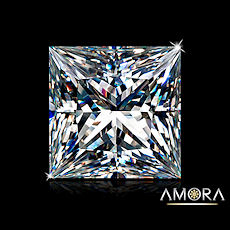 Amora Gem Princess Cut,  Studio Photo