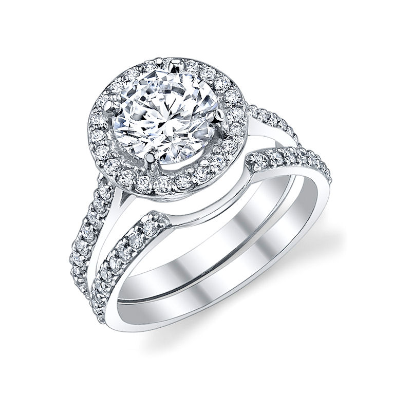 halo ring diamond wedding bands for halo ring