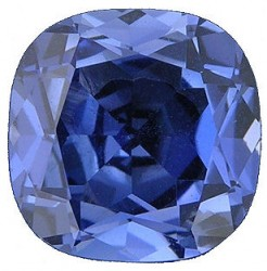 Light Ceylon Sapphire, Cushion Cut