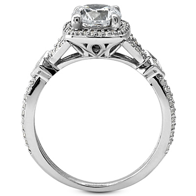 Edelweiss Split Shank Halo Ring