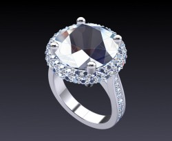 Computer-generated image, 12mm center stone.