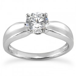 Petunia Solitaire Ring